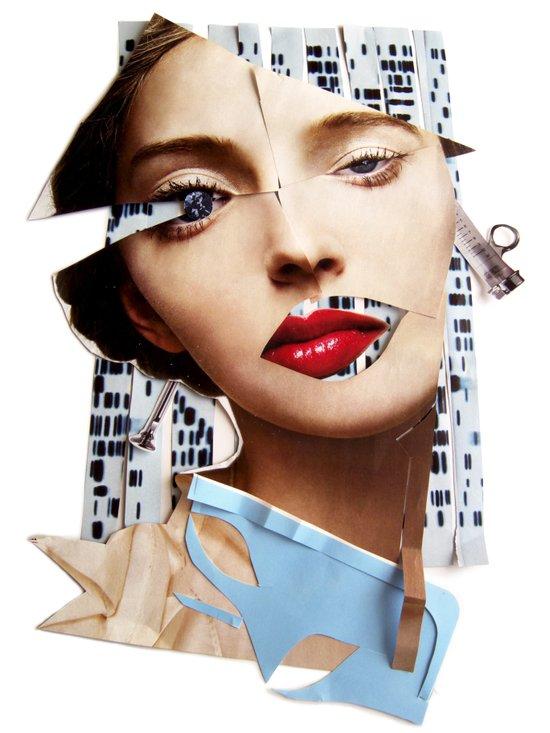 Make me beautiful | Collage Canvas Print