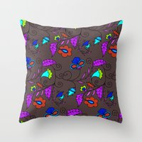 Ethnic Floral Flow Throw Pillow
