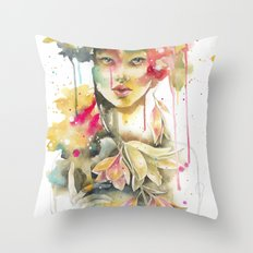 THE MIND IS EVERYTHING. WHAT YOU THINK, YOU BECOME. ~ The Buddha Throw Pillow