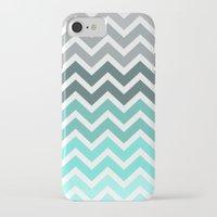 chevron iPhone & iPod Cases featuring Tiffany Fade Chevron Pattern by RexLambo
