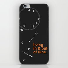 living in & out of tune iPhone & iPod Skin