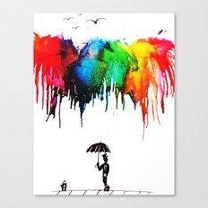 Colour Shower Canvas Print
