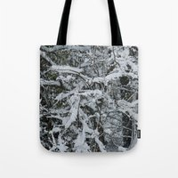 Snow Collecting Branche… Tote Bag