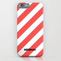 Infrared Lines / White iPhone 6 Slim Case