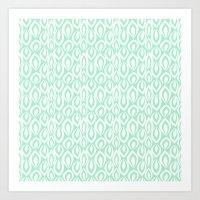 Leafyrific-Fresh Mint Art Print