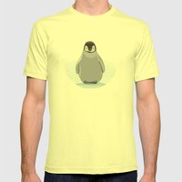 Emperor Penguin Mens Fitted Tee Lemon SMALL