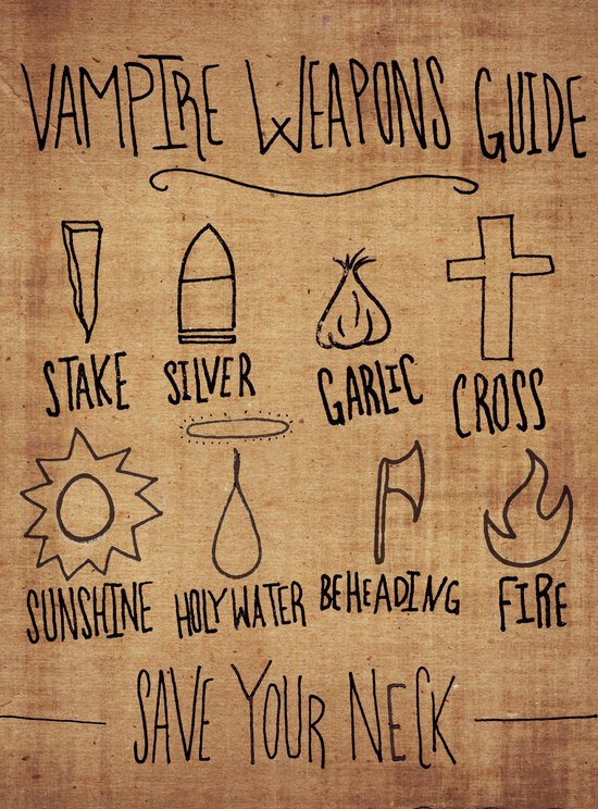 Vampire Weapons Guide Canvas Print