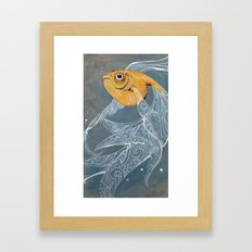 Liquid Lace Framed Art Print