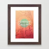 Songs and Cities: London Calling Framed Art Print