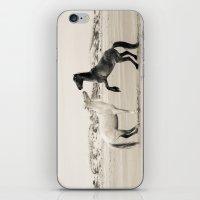 Wild Horses 4 - Black and White iPhone & iPod Skin