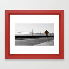 Just walk Framed Art Print