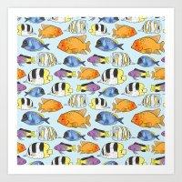 Fish Pattern Art Print