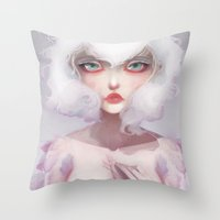 Le Coeur Des Crocus... Throw Pillow