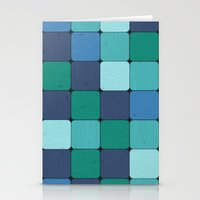 Blue Wood Blocks Stationery Cards