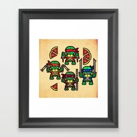 Teenage Mutant Ninja Tur… Framed Art Print