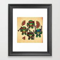 Teenage Mutant Ninja Tur… Framed Art Print