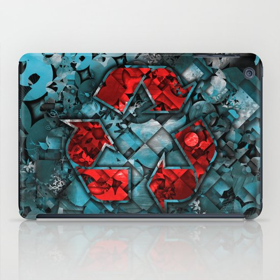 Recycle World - Blue iPad Case