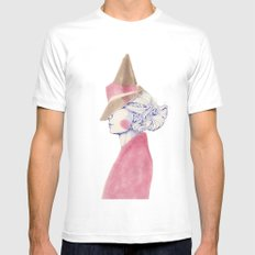A Touch of Pink SMALL White Mens Fitted Tee