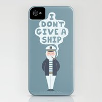 iPhone Cases featuring Indifferent Captain by Teo Zirinis