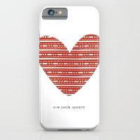 iPhone & iPod Case featuring CORAZON (rojo) by Mi Jardín Secreto
