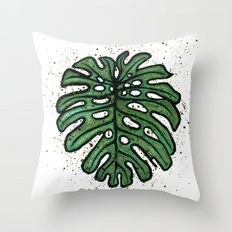 Monstera deliciosa Throw Pillow