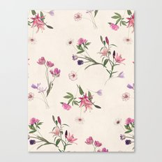 Scattered Floral On Crea… Canvas Print