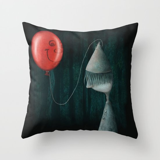 The Boy and the Balloon Throw Pillow