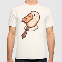 Mr. Platypus Mens Fitted Tee Natural SMALL