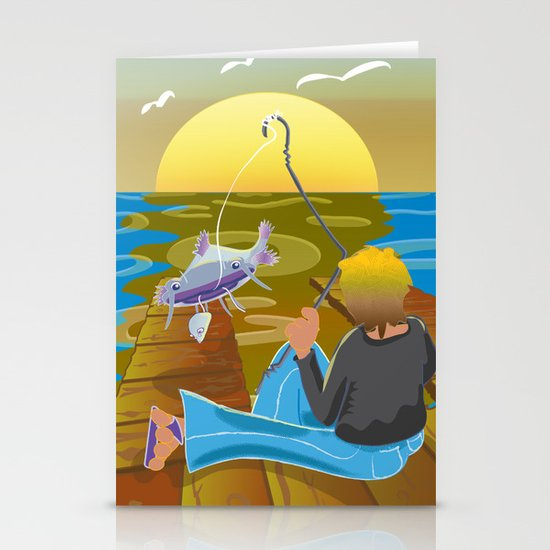 Fish Tales Stationery Card