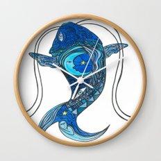 Tatoo Koi Fish Wall Clock
