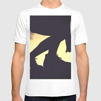 balanced silhouettes  Mens Fitted Tee White SMALL