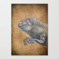 Medieval monster XIV Canvas Print