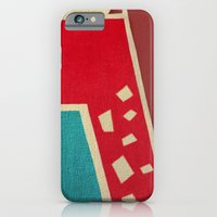 iPhone Cases featuring The Red Giraffe by Fernando Vieira