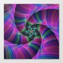 Spiral tentacles Canvas Print