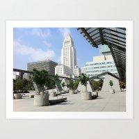City Hall - 'Lost' Angeles Art Print