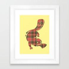 Plaid-apus Framed Art Print