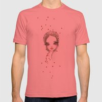 Ladybugs  Mens Fitted Tee Pomegranate SMALL