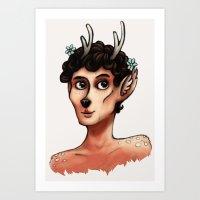 Fawnlock Art Print