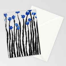 Blue poppies  Stationery Cards