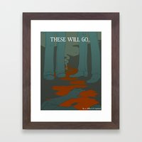 These Will Go - Cover Framed Art Print