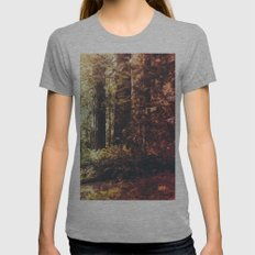 Beautiful California Redwoods Womens Fitted Tee Athletic Grey SMALL