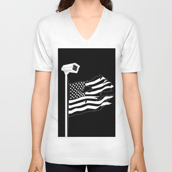 And the star-spangled banner in triumph shall wave V-neck T-shirt