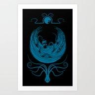 Kraken's Whirlpool Art Print