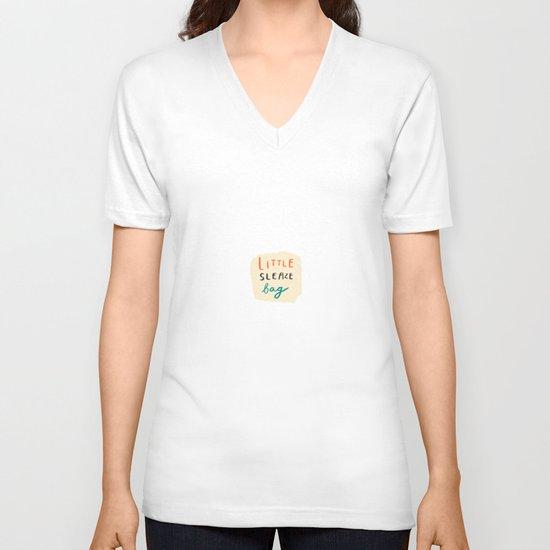 little sleaze bag V-neck T-shirt