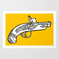 One shot Derringer, one shot gettin ya Art Print