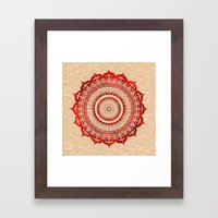 omulyána red gallery mandala Framed Art Print