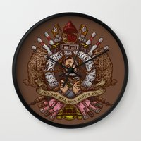 Murray Crest Wall Clock