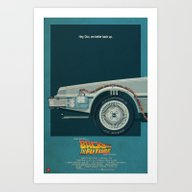 DeLorean Time Machine, B… Art Print