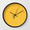 YELLOW DOTS Wall Clock
