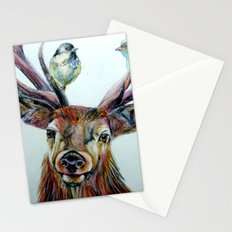 Stag and birds Stationery Cards